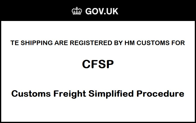 customs freight simplified procedure